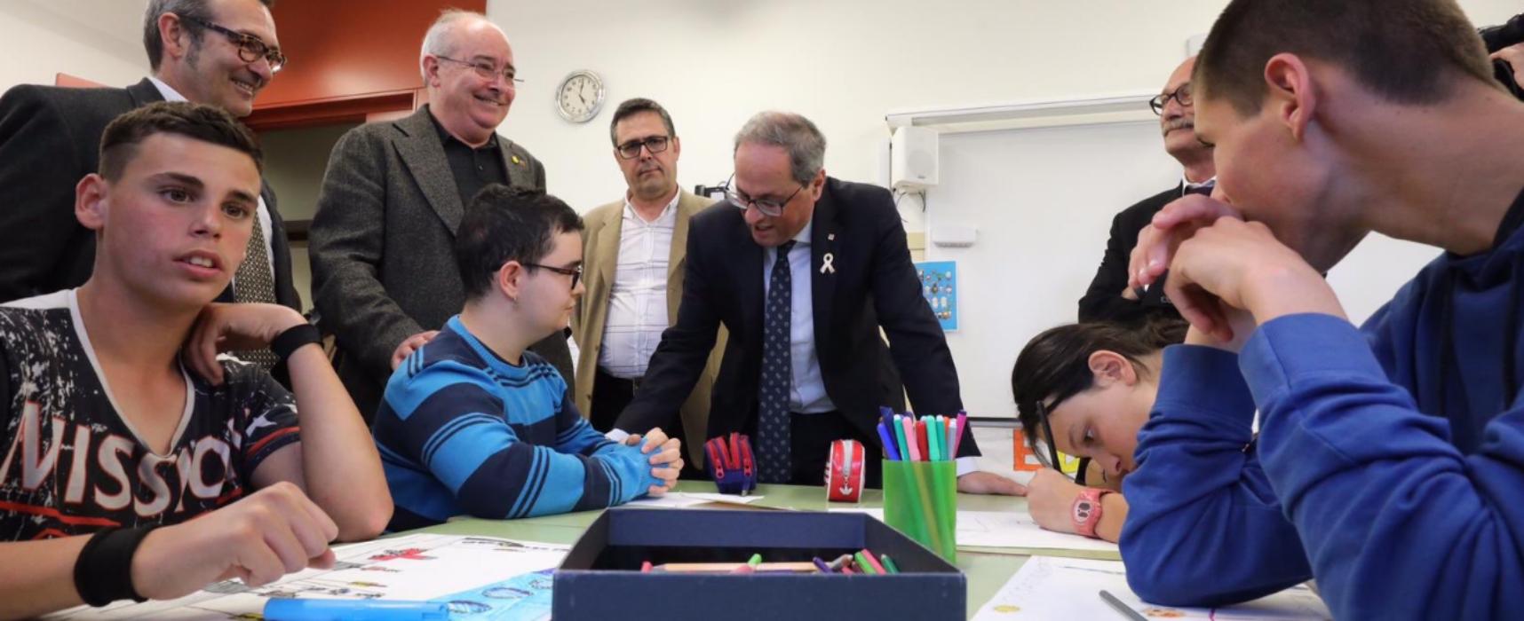 El president Quim Torra visita l'escola Àuria i la torre de Cal Salinas.