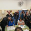Visita del president Quim Torra a l'escola Àuria i la torre de Cal Salinas.